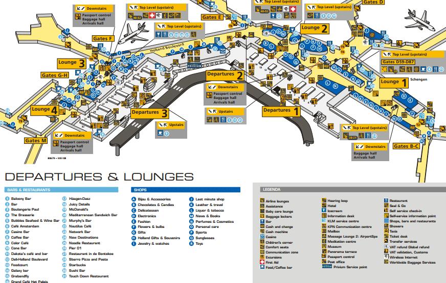 vertrek-en-lounges-schiphol-map