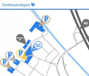 aankomst eindhoven airport plattegrond