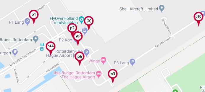 aankomsten rotterdam airport parkeren